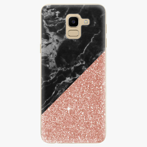 Rose and Black Marble   Samsung Galaxy J6