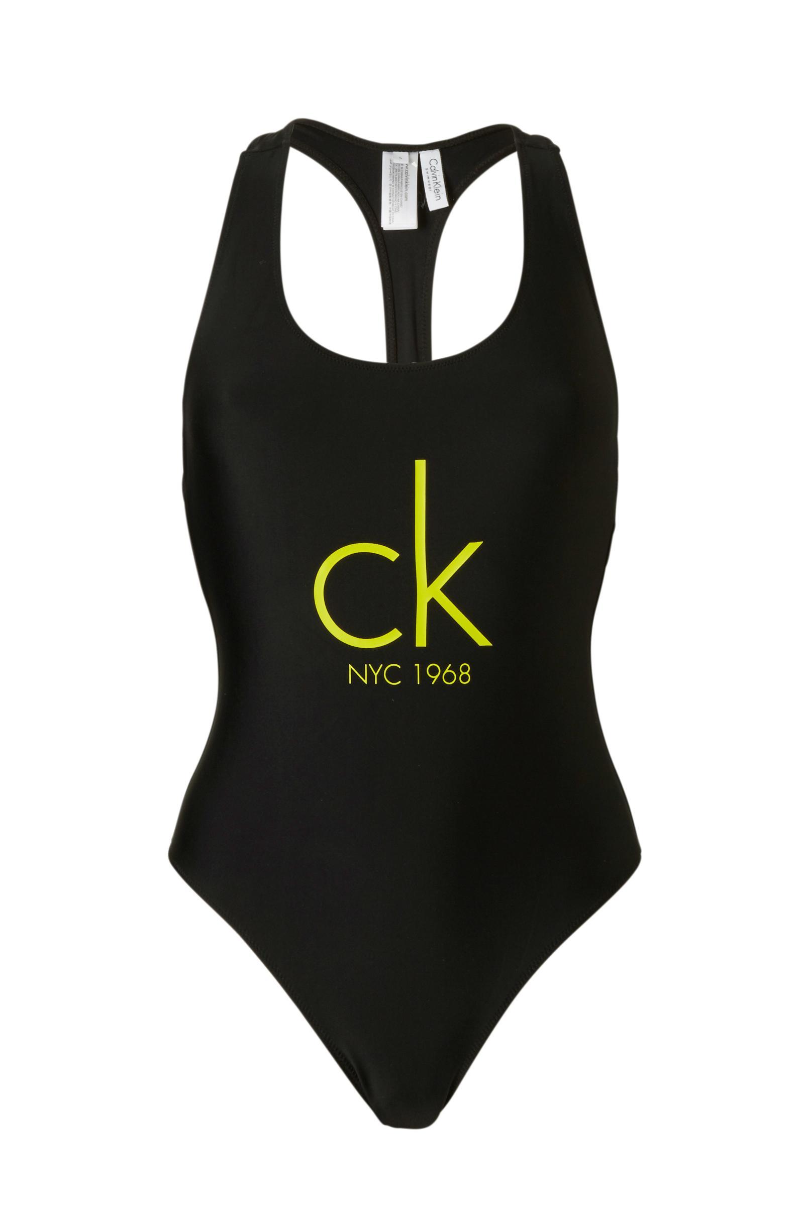 Jednodílné plavky KW0KW00041-001 - Calvin Klein - Černá/XS