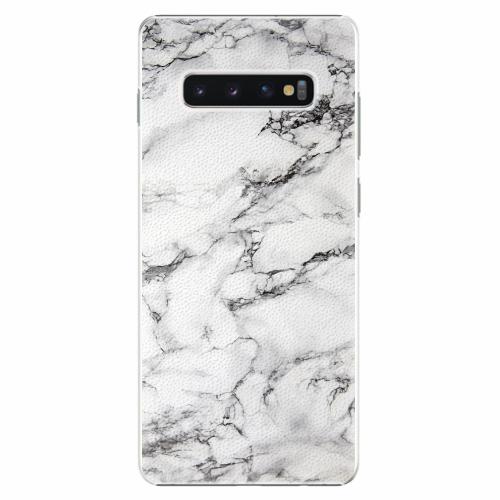 Plastový kryt iSaprio - White Marble 01 - Samsung Galaxy S10+