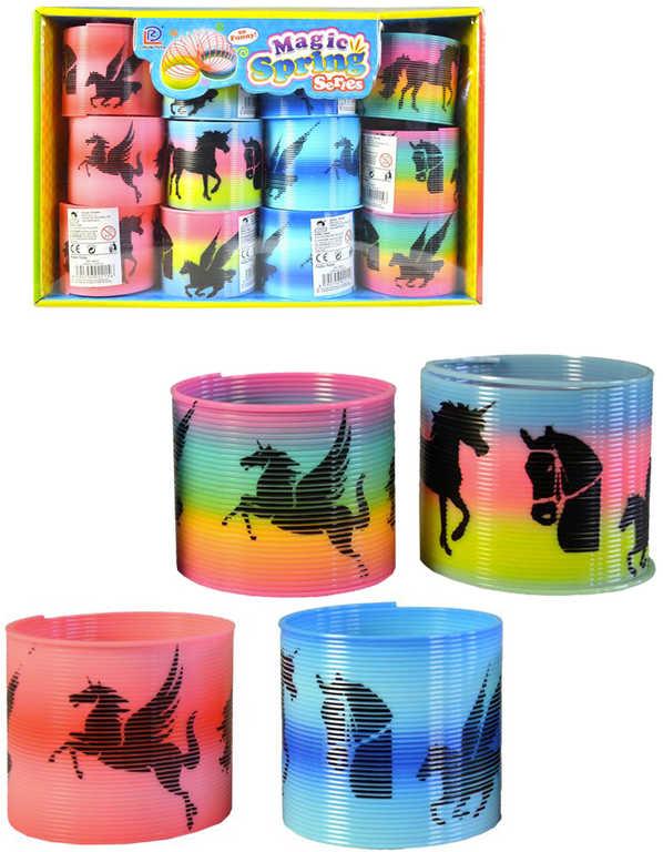 Spirála magická s obrázkem 6,5 cm koně duhová plast - 4 druhy