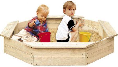 Dřevěné pískoviště pro děti 8-hranné FSC