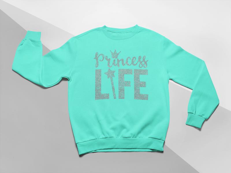 KIDSBEE Moderní dětská dívčí mikina Princess Life