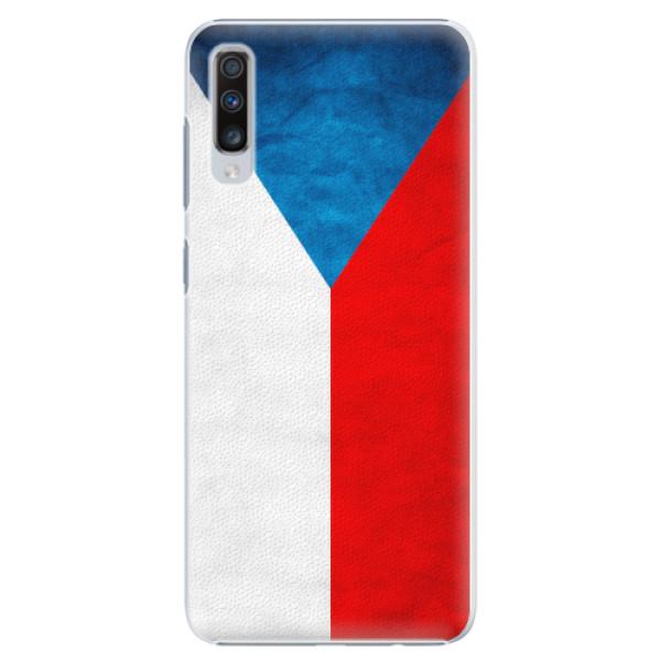Plastové pouzdro iSaprio - Czech Flag - Samsung Galaxy A70