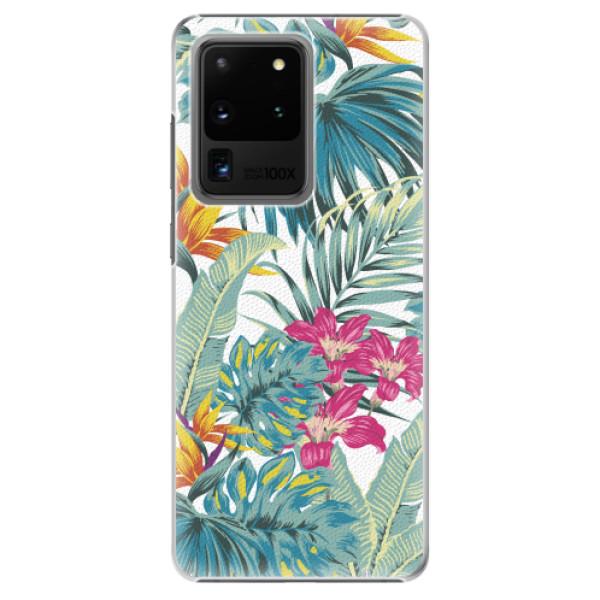 Plastové pouzdro iSaprio - Tropical White 03 - Samsung Galaxy S20 Ultra