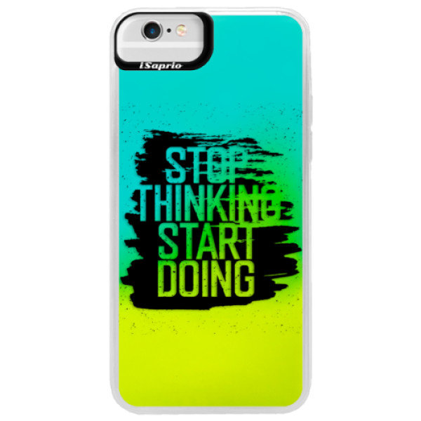 Neonové pouzdro Blue iSaprio - Start Doing - black - iPhone 6 Plus/6S Plus