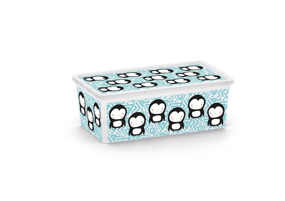 Plastový úložný KIS C box ANIMAL - XS - tučňák