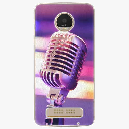 Plastový kryt iSaprio - Vintage Microphone - Lenovo Moto Z Play