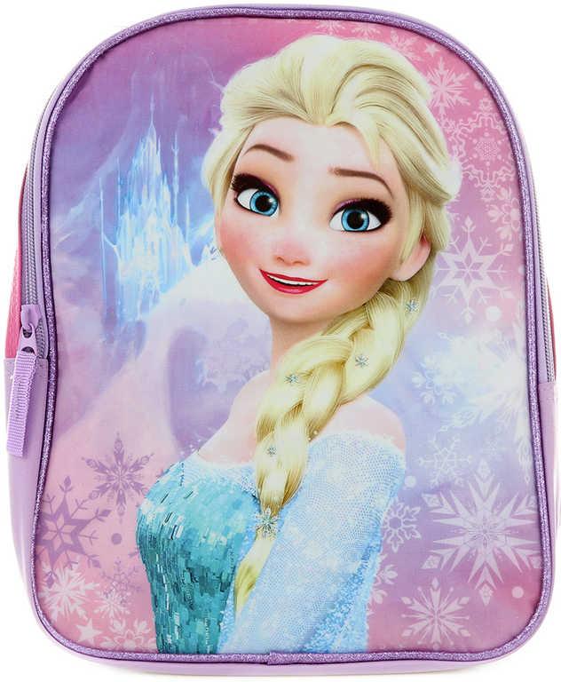 Batoh dětský Frozen (Ledové Království) třpytivý Růžový 30x22,5x8,5cm