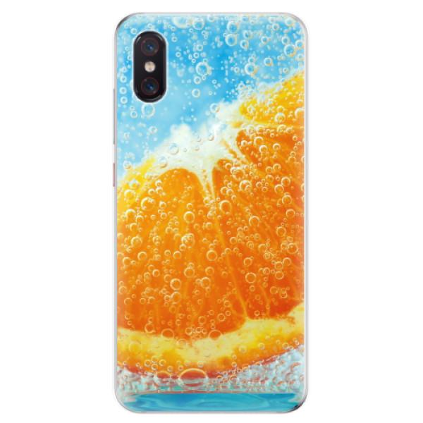 Odolné silikonové pouzdro iSaprio - Orange Water - Xiaomi Mi 8 Pro