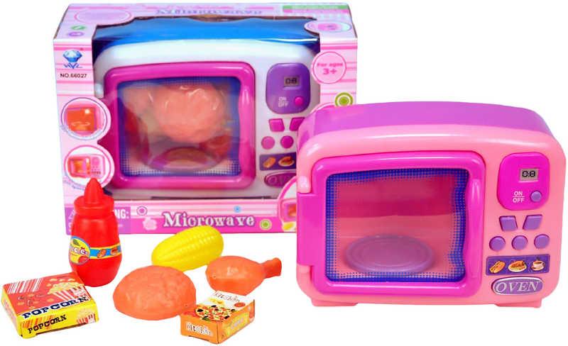 Mikrovlnná trouba Set s potravinami Na baterie se zvukem a světlem 2 barvy