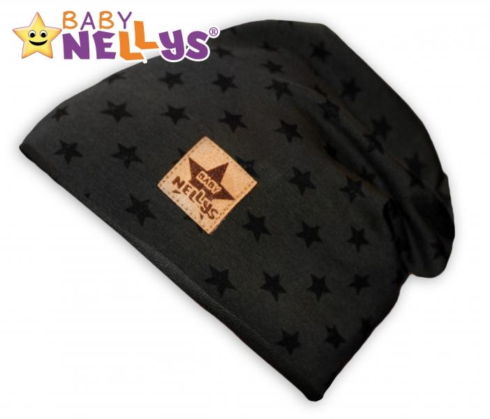Bavlněná čepička s hvězdičkami Baby Nellys ® - zelená, 48-52 - 48/52 čepičky obvod