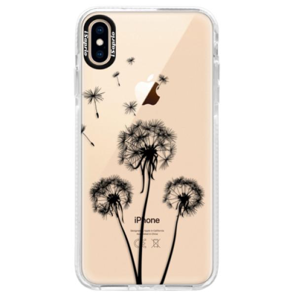 Silikonové pouzdro Bumper iSaprio - Three Dandelions - black - iPhone XS Max