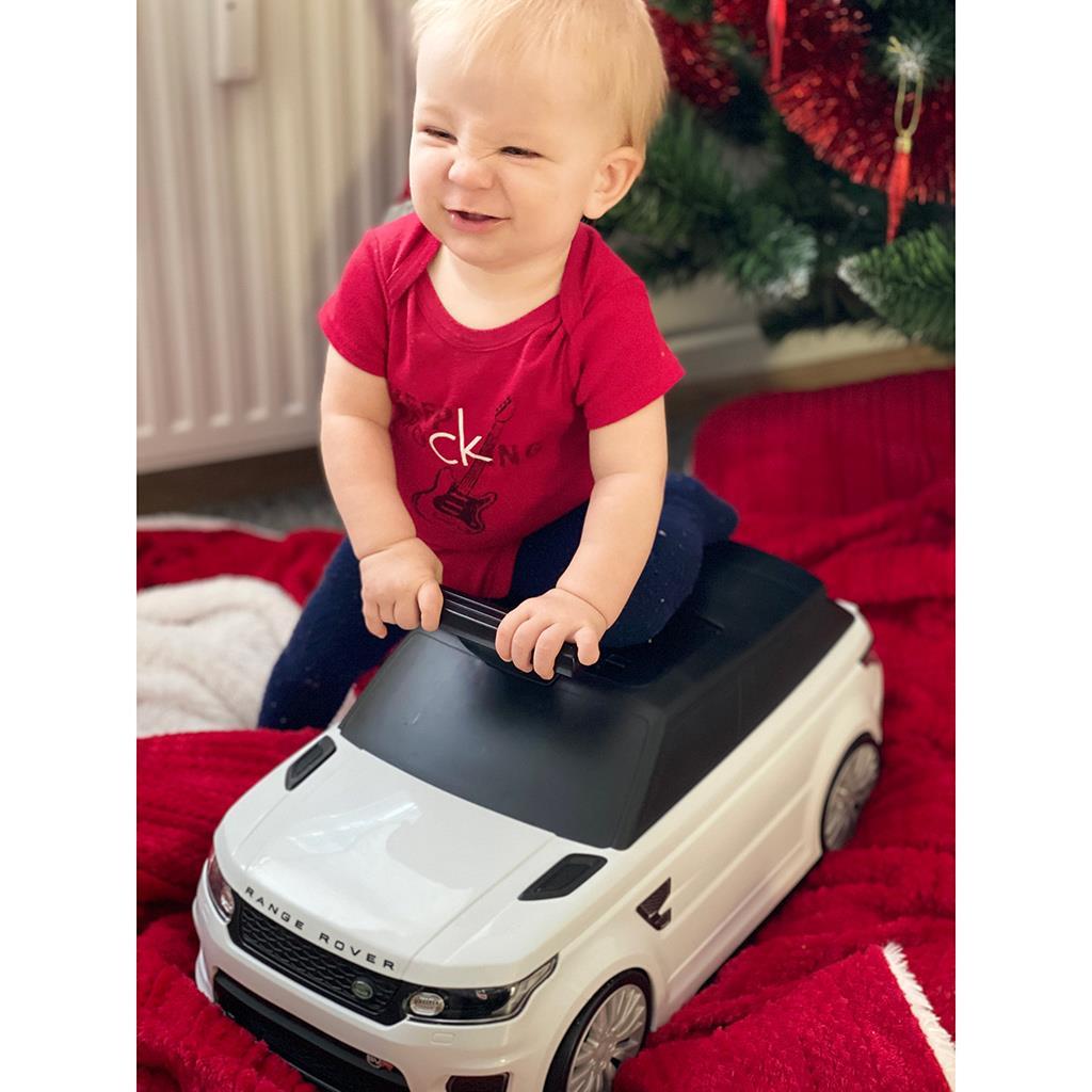 Dětské odrážedlo a kufřík 2v1 BAYO Range Rover SVR