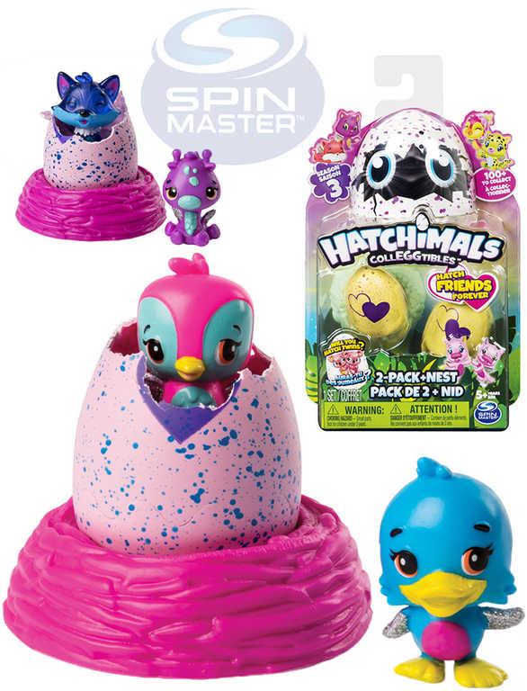 SPIN MASTER Hatchimals set zvířátko sběratelské ve vajíčku 2ks set s hnízdem
