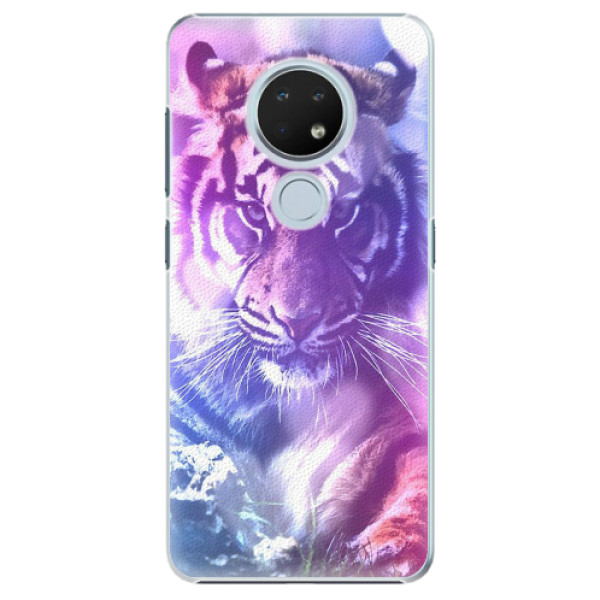 Plastové pouzdro iSaprio - Purple Tiger - Nokia 6.2