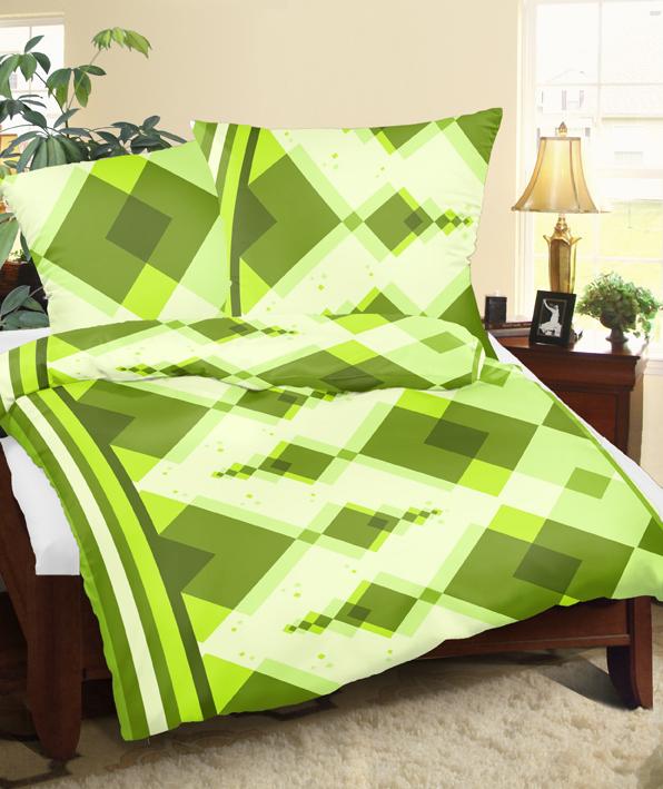 Povlaky flanel Kosočtverce zelené skladem 2 ks, Výběr rozměru: 45x60