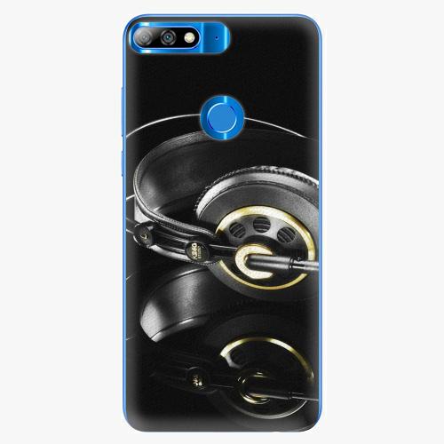 Silikonové pouzdro iSaprio - Headphones 02 - Huawei Y7 Prime 2018