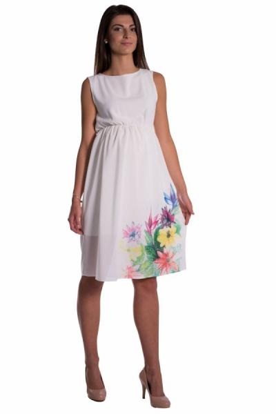Be MaaMaa Těhotenské šaty bez rukávů s potiskem květin