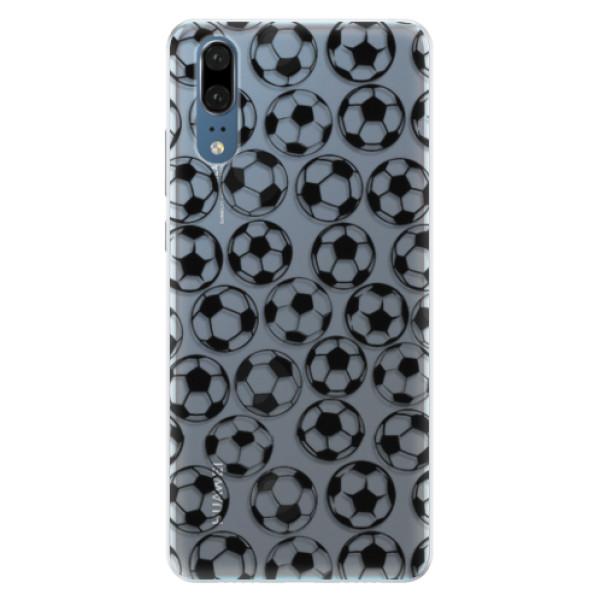 Silikonové pouzdro iSaprio - Football pattern - black - Huawei P20