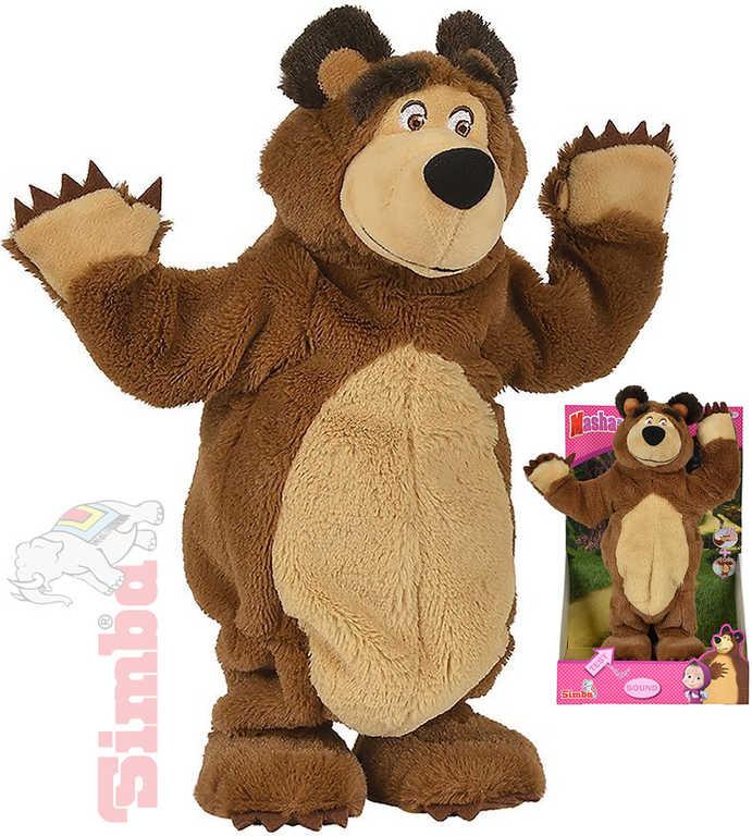SIMBA PLYŠ Medvěd Míša tančící 35cm na baterie Máša a medvěd