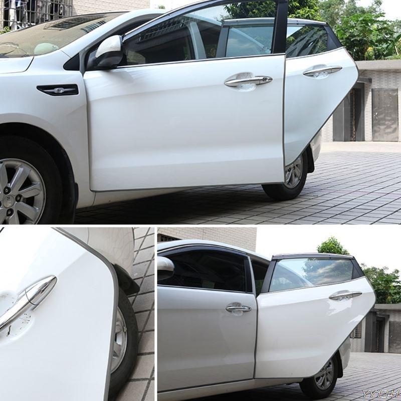 Ochranné lišty na auto 5 m - šedé