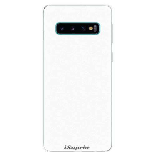 Silikonové pouzdro iSaprio - 4Pure - bílý - Samsung Galaxy S10