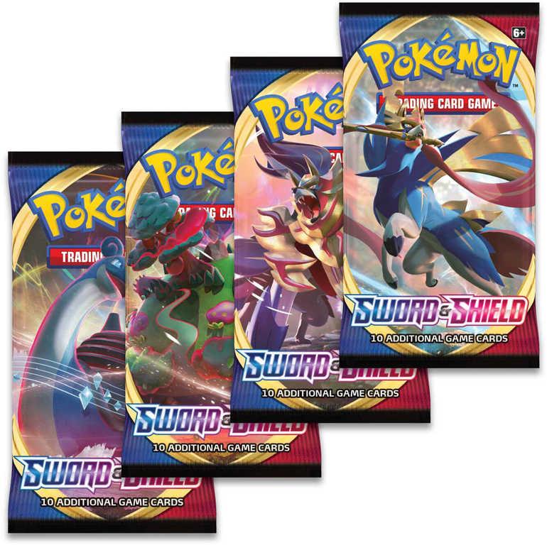 ADC HRA Karty doplňkové TCG Pokémon Sword and Shield 1 Booster set 10 karet v sáčku