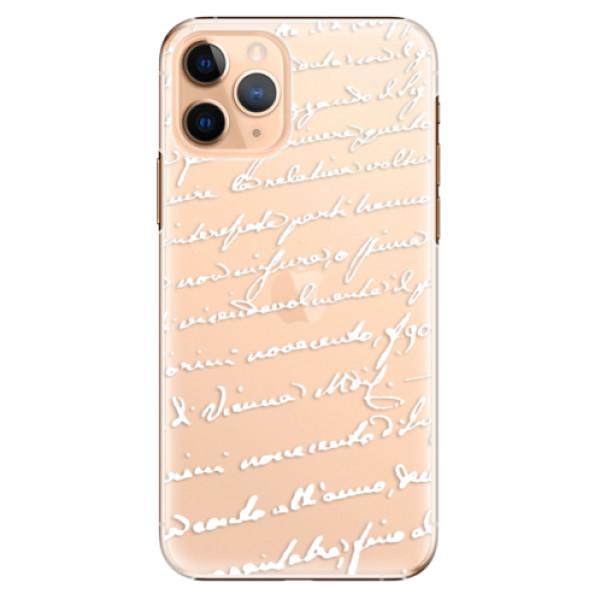 Plastové pouzdro iSaprio - Handwriting 01 - white - iPhone 11 Pro