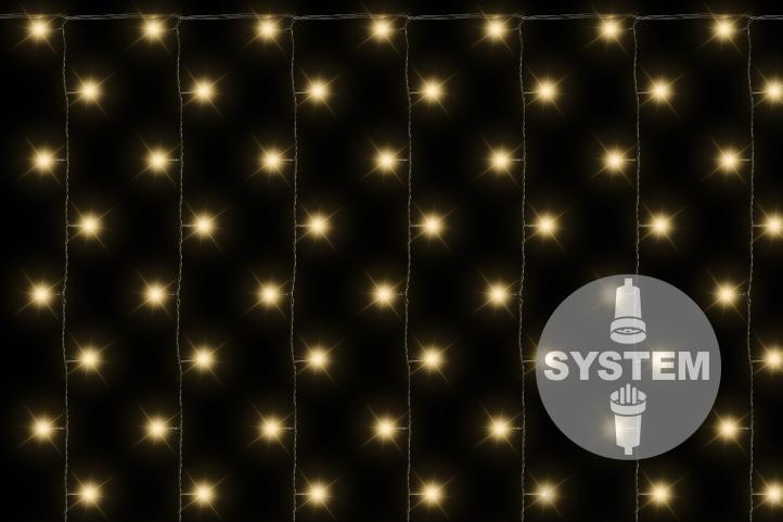 DiLED světelný závěs - 200 LED teple bílá