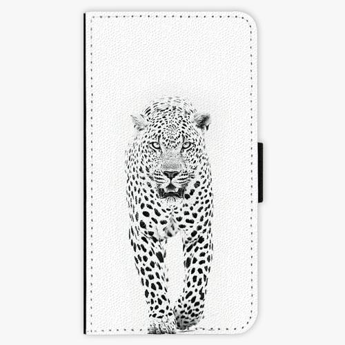 Flipové pouzdro iSaprio - White Jaguar - Samsung Galaxy J7 2017