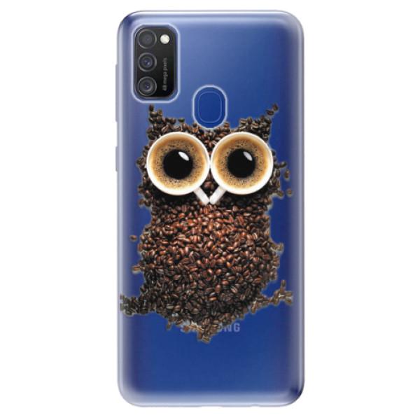 Odolné silikonové pouzdro iSaprio - Owl And Coffee - Samsung Galaxy M21