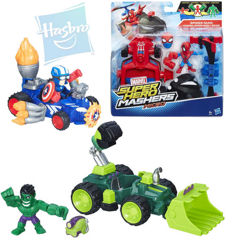 HASBRO AVENGERS Micro Super Hero Mashers set figurka + vozidlo 3 druhy