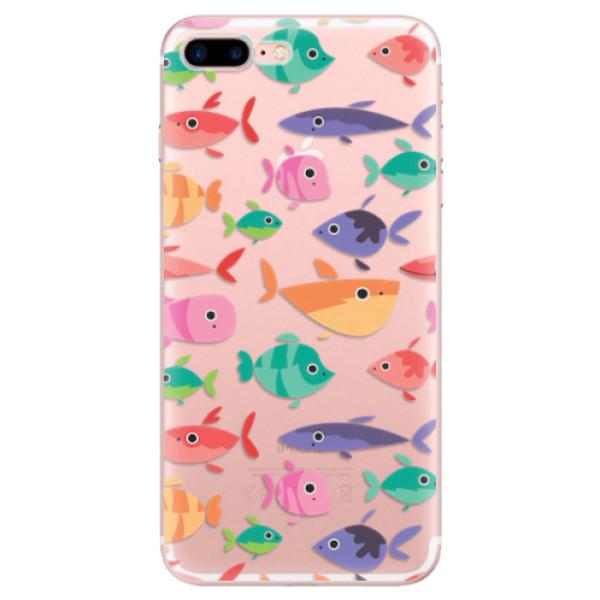 Odolné silikonové pouzdro iSaprio - Fish pattern 01 - iPhone 7 Plus