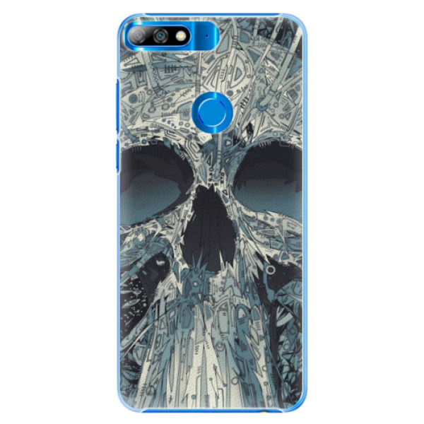 Plastové pouzdro iSaprio - Abstract Skull - Huawei Y7 Prime 2018