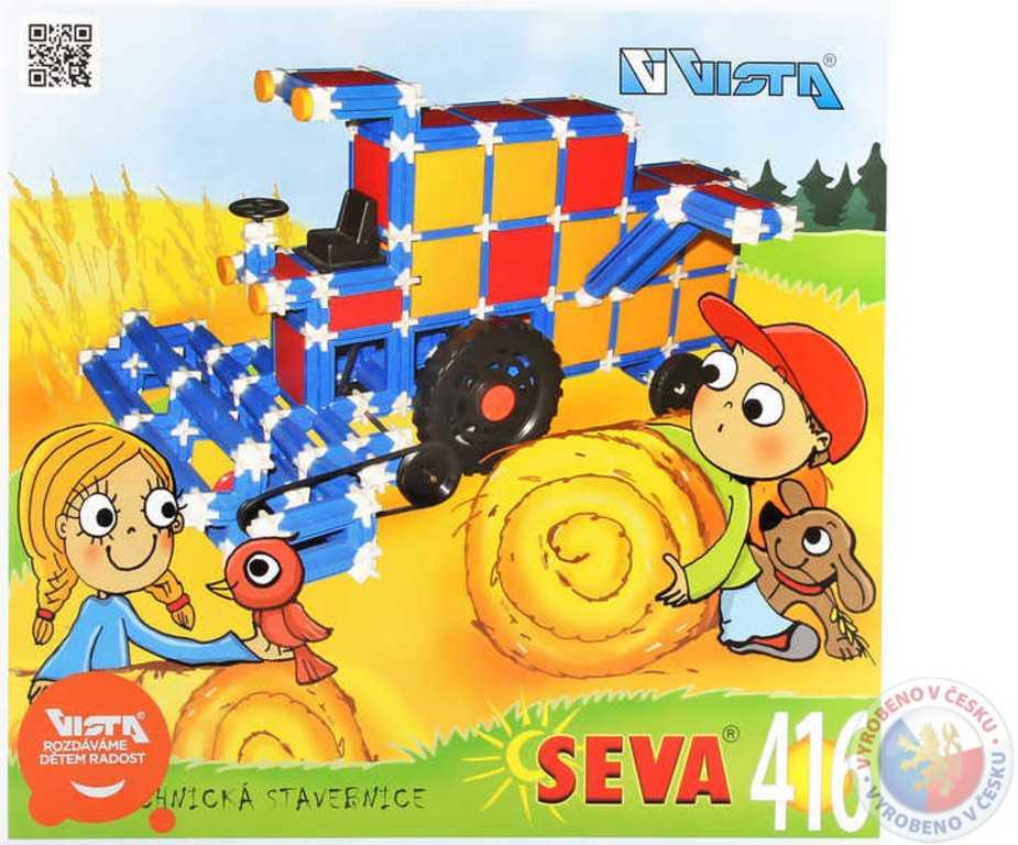 VISTA SEVA Kombajn Traktor polytechnická STAVEBNICE 416 dílků