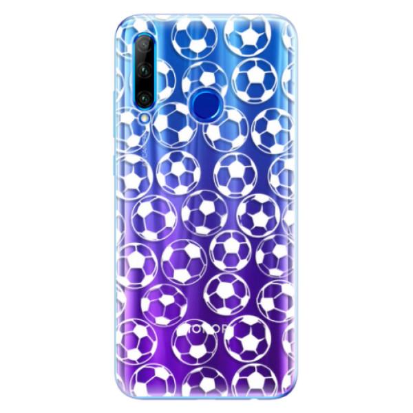 Odolné silikonové pouzdro iSaprio - Football pattern - white - Huawei Honor 20 Lite