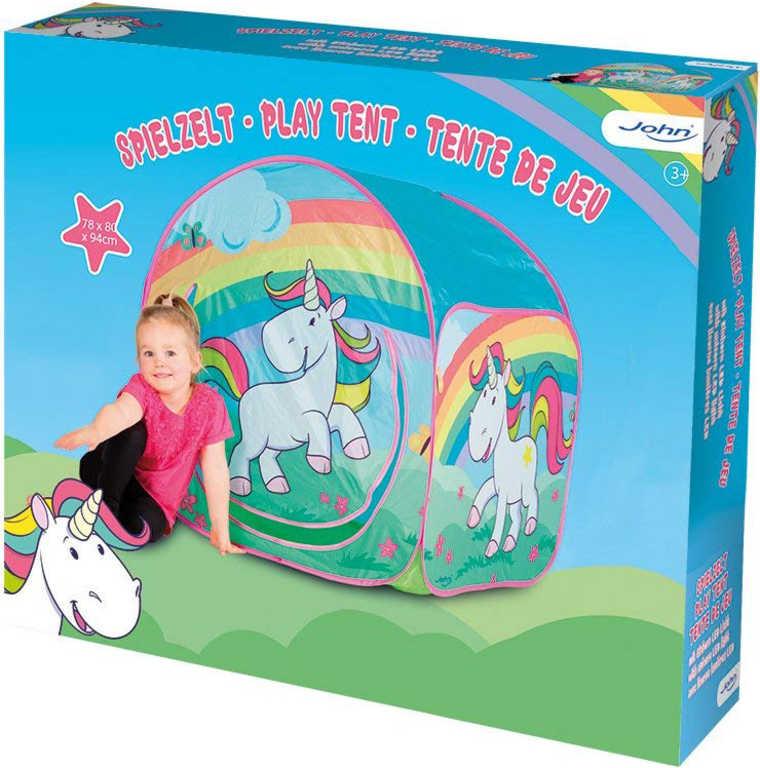 JOHN Stan dětský Jednorožec 80x80x85cm holčičí v krabici