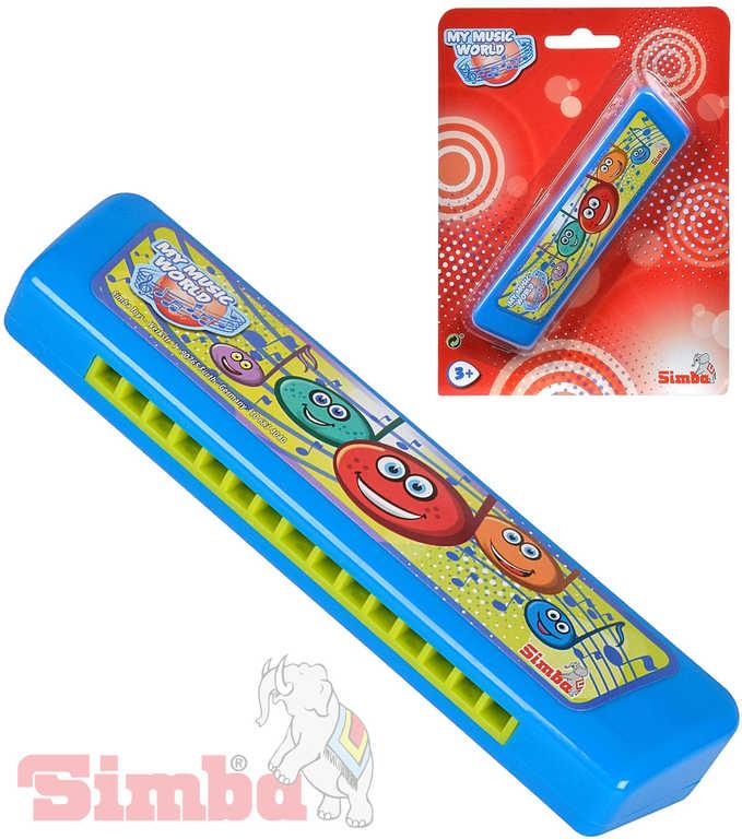 SIMBA Harmonika dětská foukací 15 cm modrá na kartě