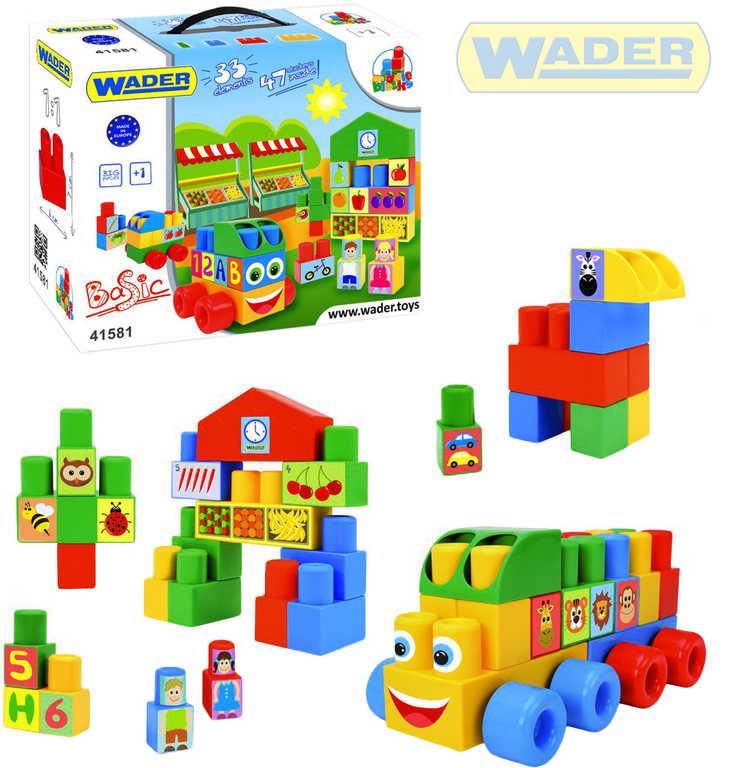 WADER Middle Block baby kostky střední 33ks plast STAVEBNICE 41581
