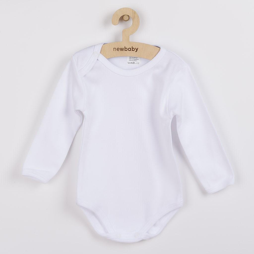Luxusní body dlouhý rukáv New Baby - bílá/50