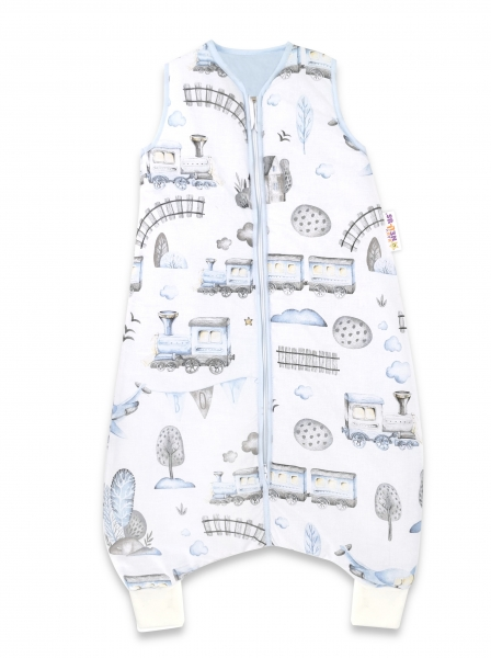 baby-nellys-spaci-vak-s-nohavickami-vlacek-90-cm-modra