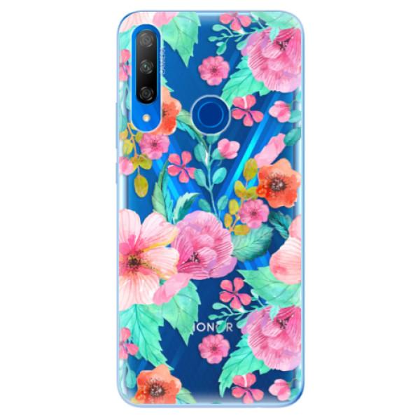 Odolné silikonové pouzdro iSaprio - Flower Pattern 01 - Huawei Honor 9X