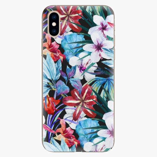 Silikonové pouzdro iSaprio - Tropical Flowers 05 - iPhone XS