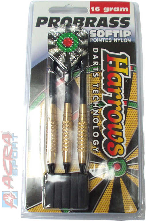 ACRA Šipky s plastovým hrotem HARROWS SOFT PRO BRASS T11 18g set 3ks