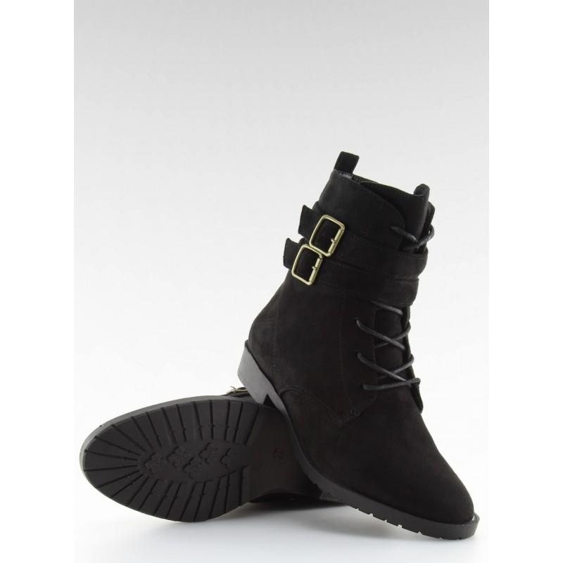 Dámské kotníkové boty H7187 - H.A - Černá/40