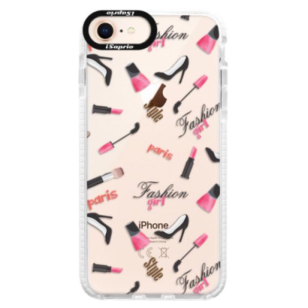 Silikonové pouzdro Bumper iSaprio - Fashion pattern 01 - iPhone 8