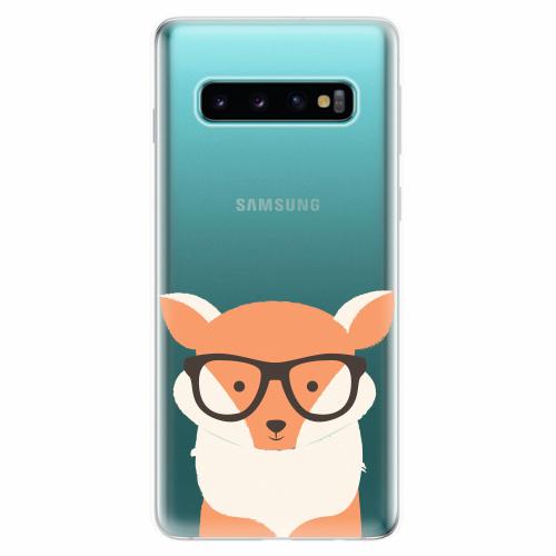 Silikonové pouzdro iSaprio - Orange Fox - Samsung Galaxy S10