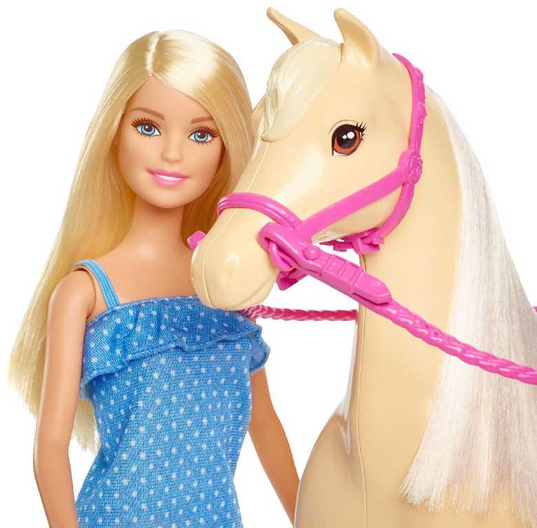 MATTEL BRB Panenka žokejka Barbie jezdecký set s koněm a doplňky