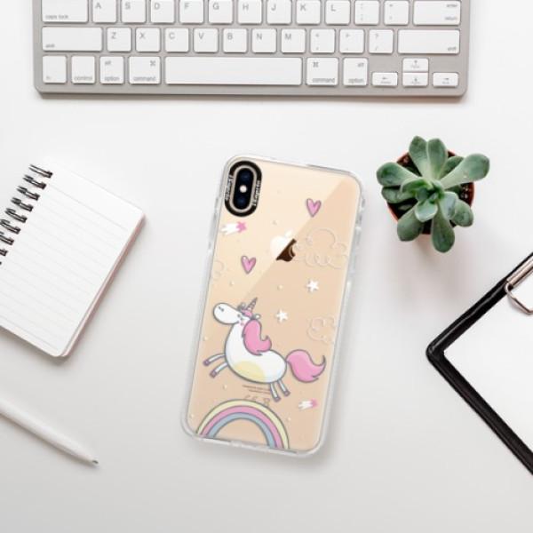 Silikonové pouzdro Bumper iSaprio - Unicorn 01 - iPhone XS Max