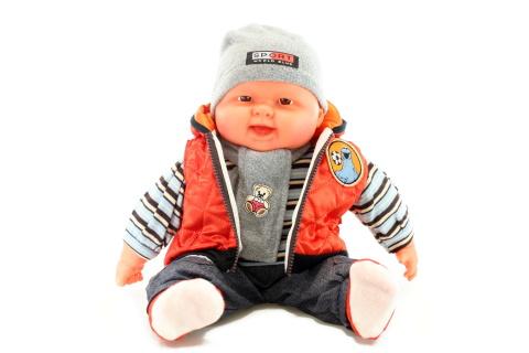 Miminko velké - kluk - oranžová vesta
